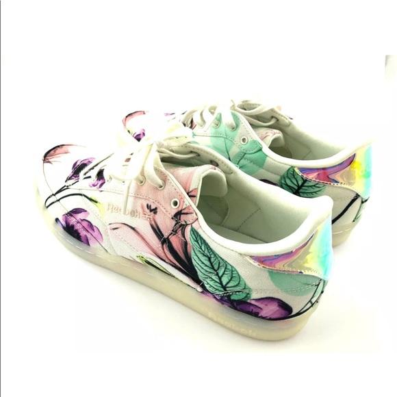 floral reebok sneakers